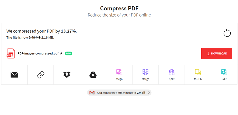 Smallpdf Compress PDF Download