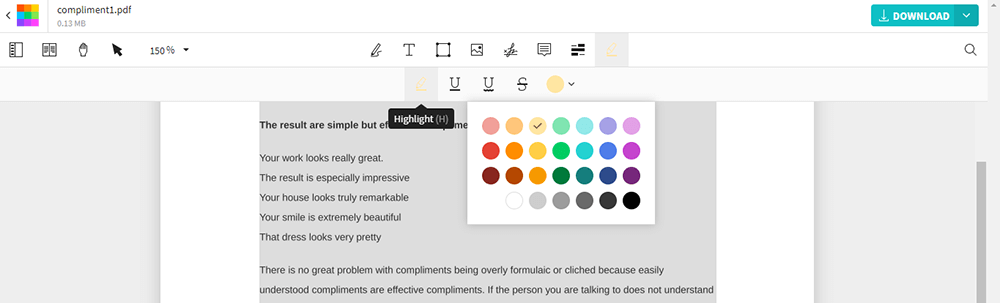Smallpdf Edit PDF Highlight