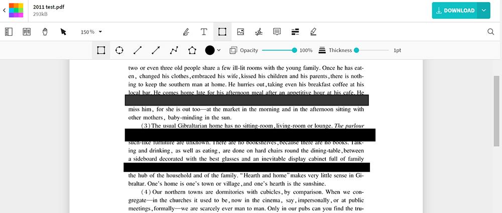 Smallpdf Editar PDF Redactar PDF