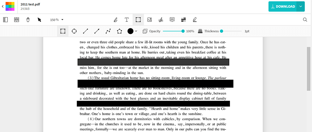 EasePDF Editar PDF Redactar PDF