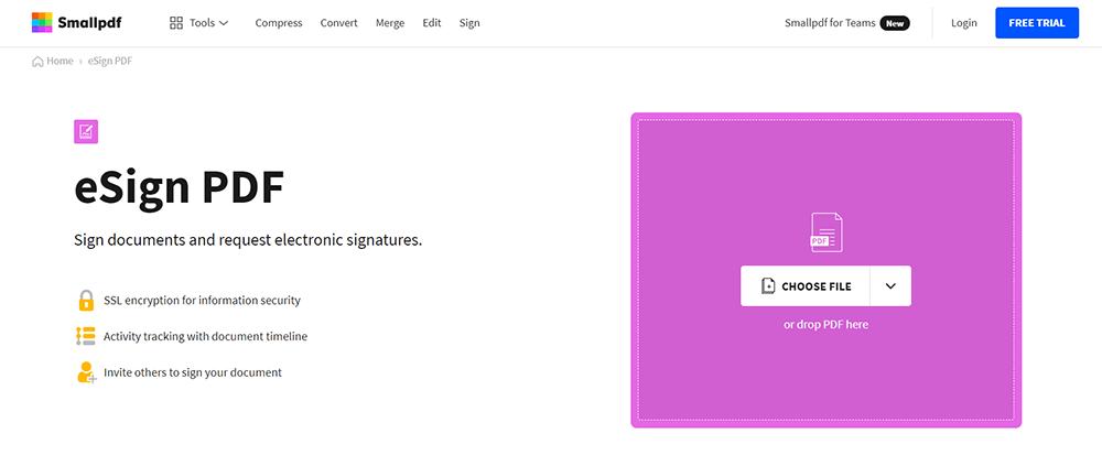 Smallpdf eSign