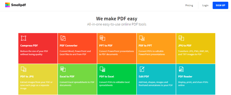 iLovePDF Alternative Smallpdf