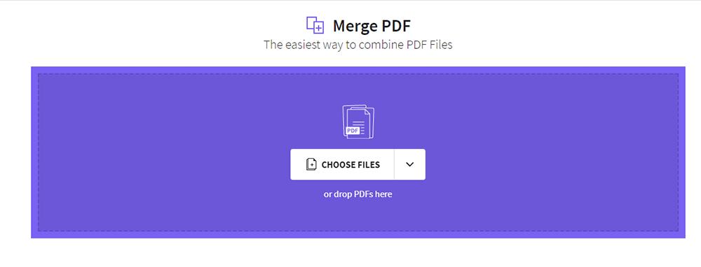 Smallpdf Merge PDF Choose Files