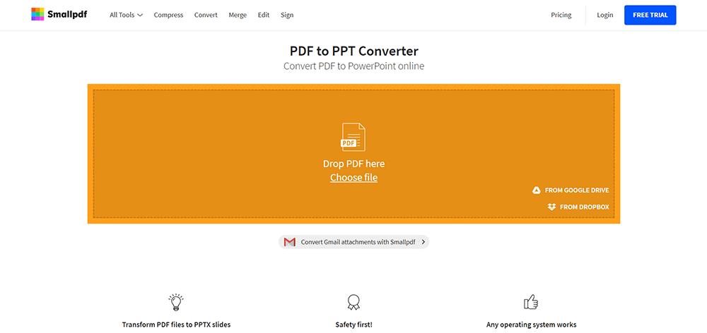 Smallpdf PDF a PPT