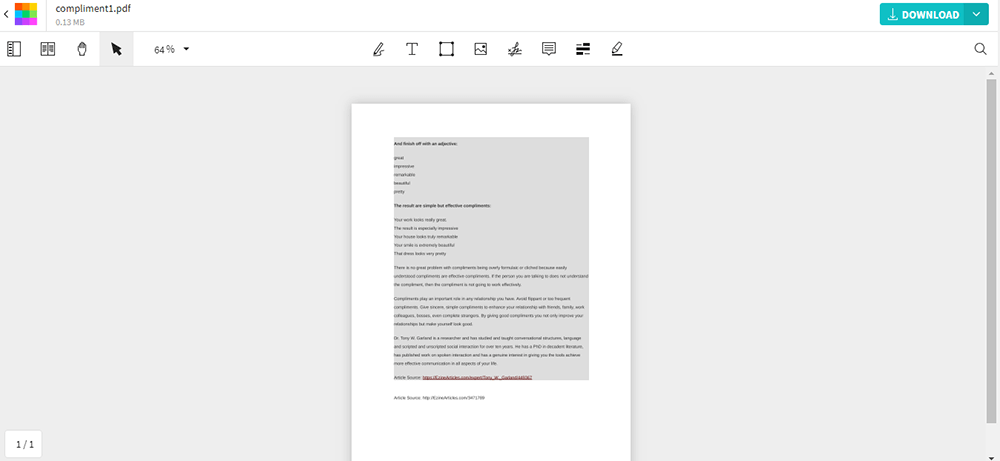 Smallpdf Read and Edit PDF File