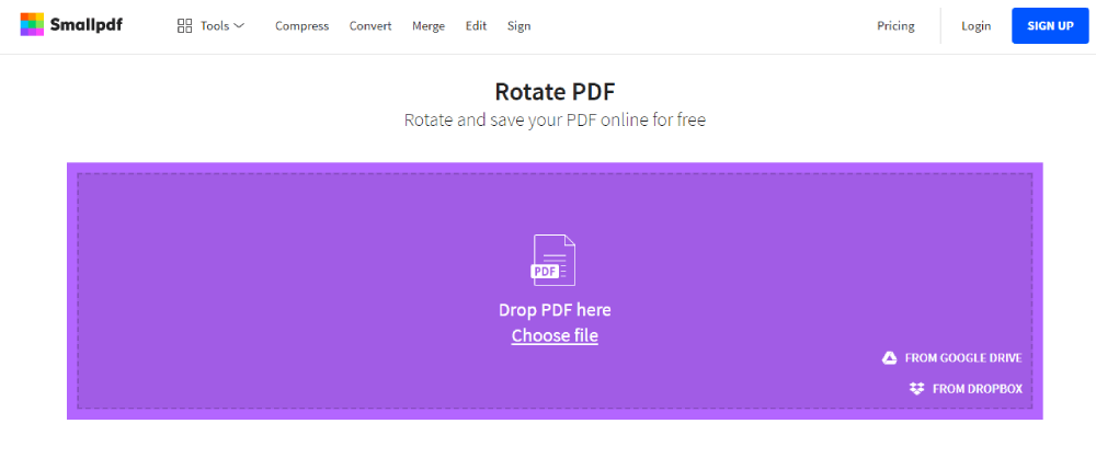 Smallpdf Select Files PDF