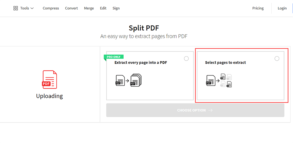 Smallpdf Split PDF Limits