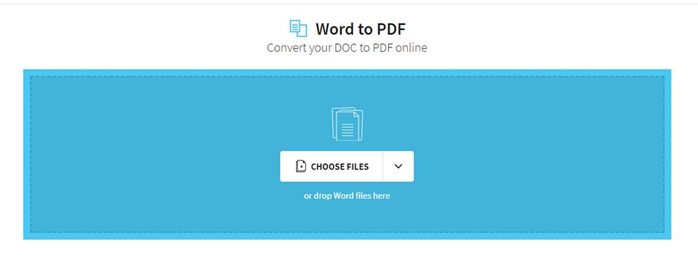 Smallpdf Word to PDF Choose File
