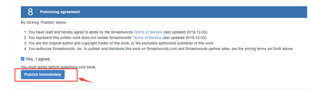 Publicación inmediata de Smashwords