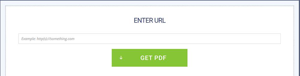 Soda PDF HTML zu PDF URL eingeben