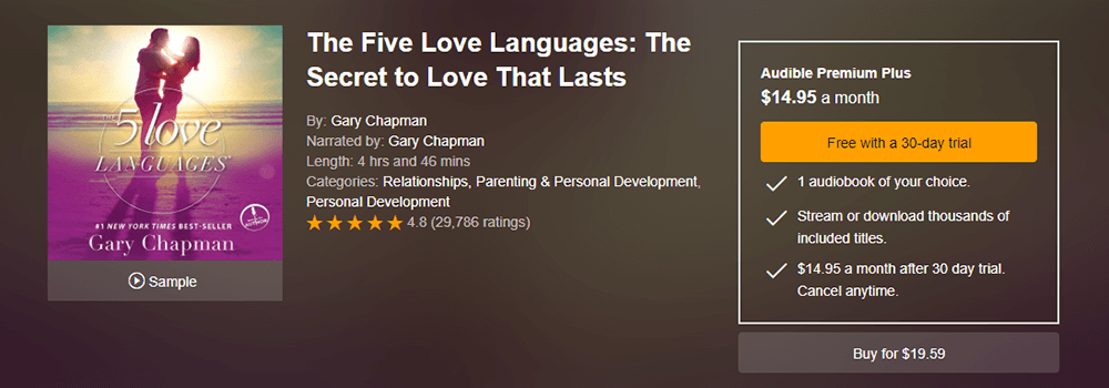 The 5 Love Languages Audiobook Resource