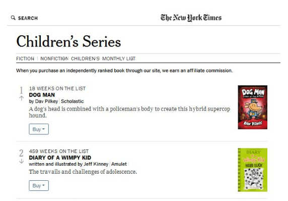 The New York Times List The Dog Man Series