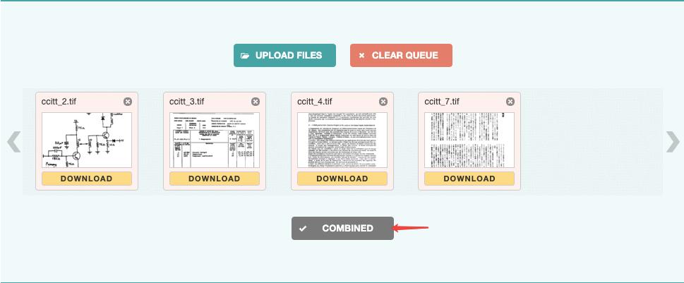 Tiff2pdf PDF combinado