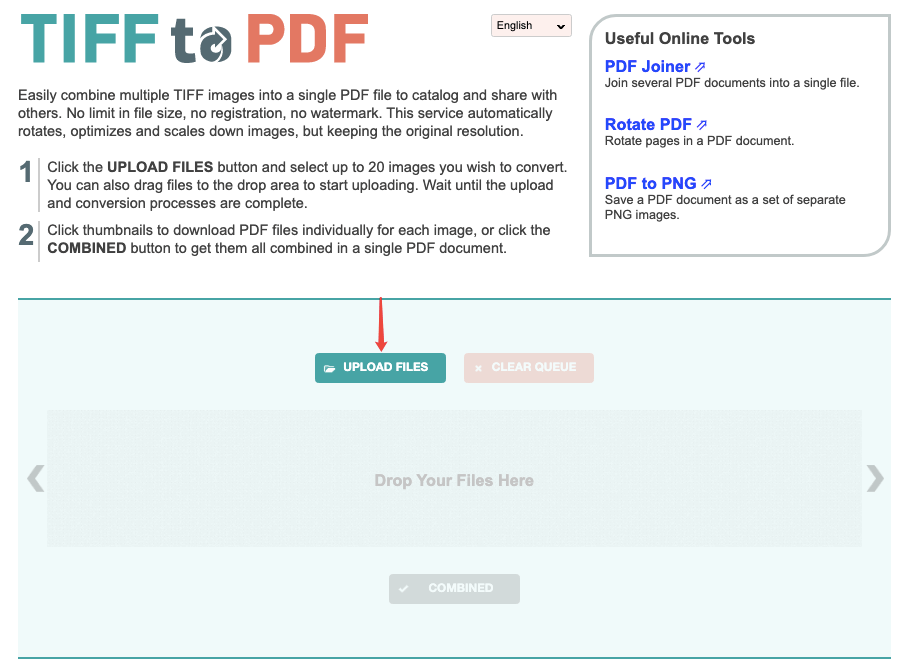Tiff2pdf Upload Files