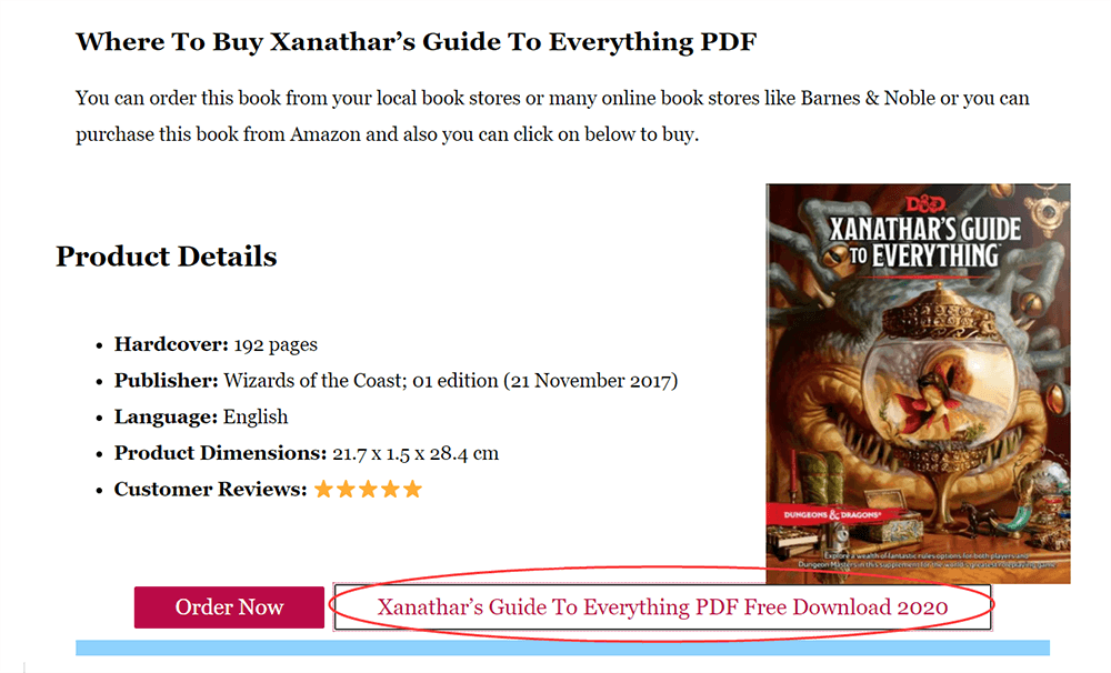 Unearthed Arcana Xanathar's Guide to Everything