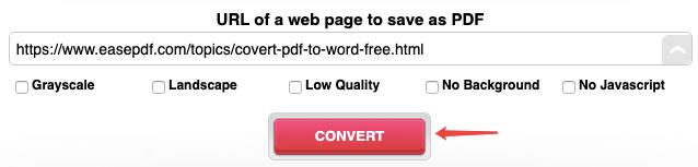 Conversión de página web a PDF en línea