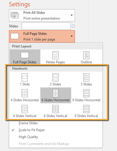 Windows Print PPT to PDF Handouts