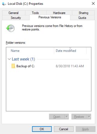 Versioni precedenti del sistema Windows