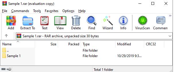 WinZip RAR 파일 추출