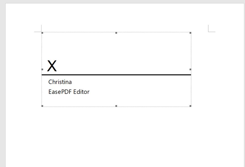Word Signature Setup