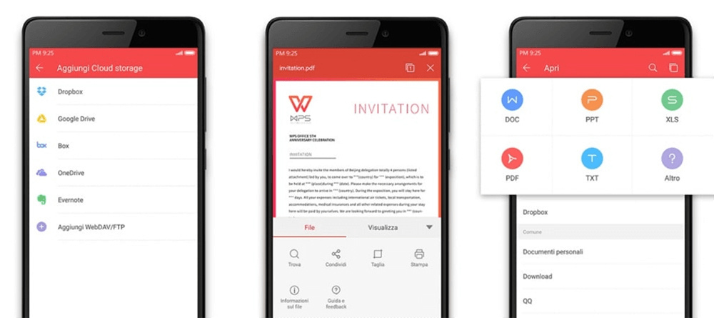 WPS Office PDF 읽기