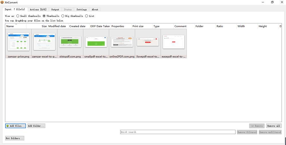 XnConverter 이미지를 PDF로
