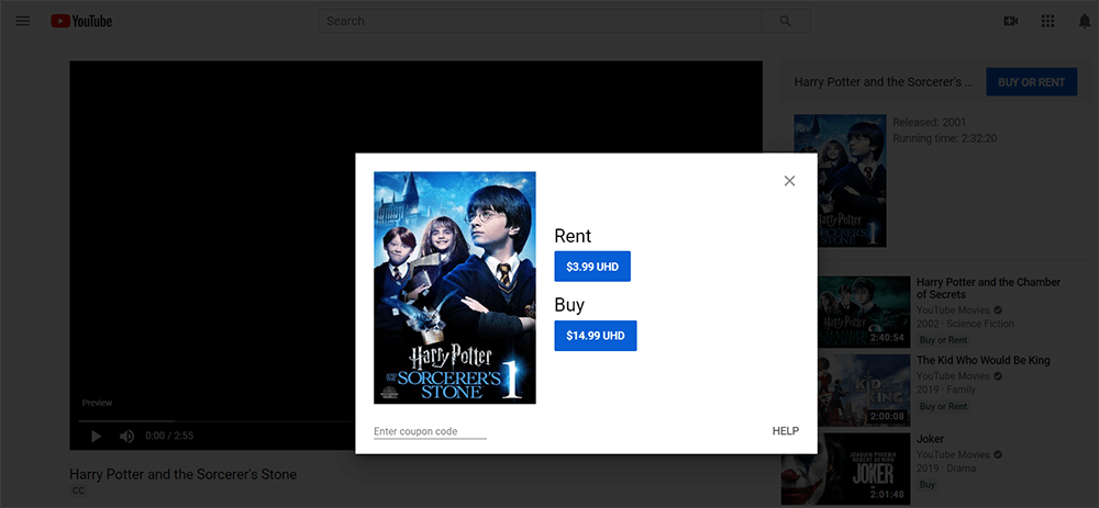 YouTube-Filme Harry Potter und der Zauberer
