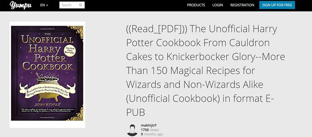 Yumpu Das inoffizielle Harry-Potter-Kochbuch