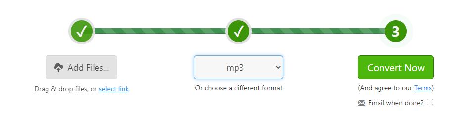 Zamzar PDF to MP3