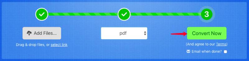 Zamzar a PDF Convertir ahora