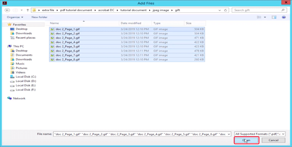 Adobe Acrobat Pro Create PDF Add Files
