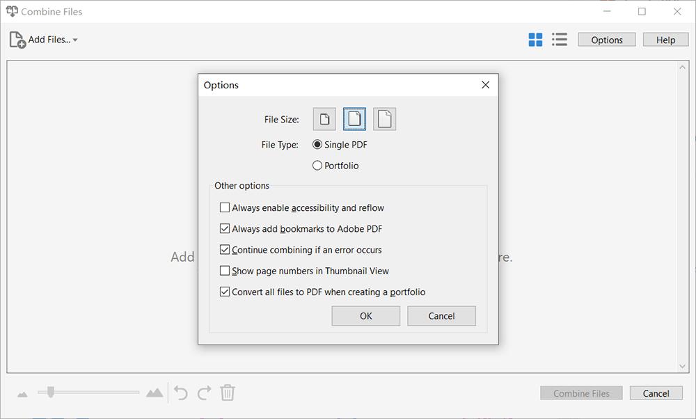 PDF de combinación de Adobe Acrobat Pro