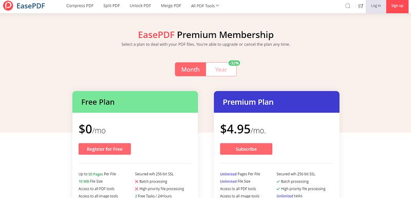 EasePDF Pricing