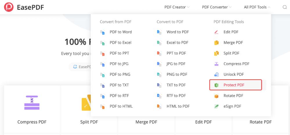 Click Protect PDF
