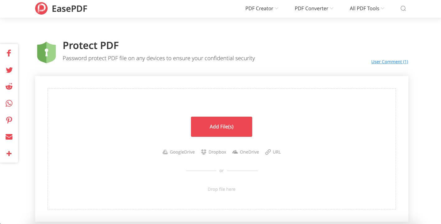 Protect PDF Upload PDF Files