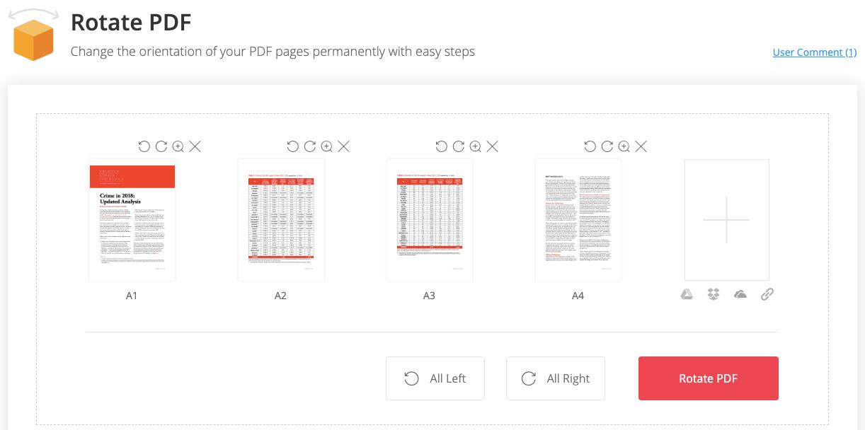 EasePDF Rotate PDF