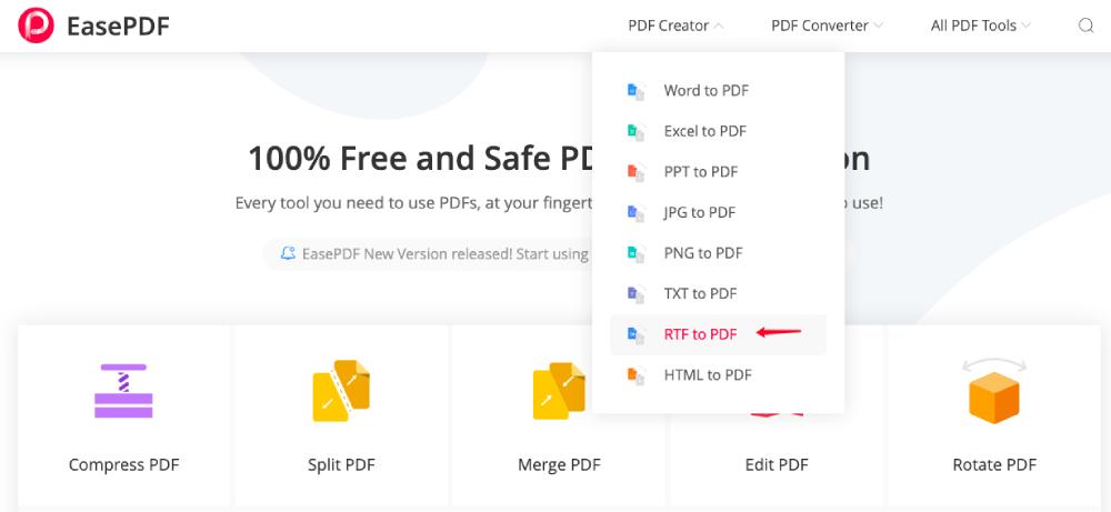 EasePDF RTF to PDF Converter