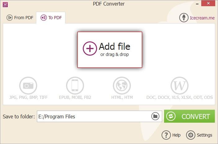 Icecream PDF Converter Convert BMP to PDF