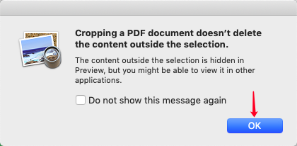 Mac Preview Crop Warning
