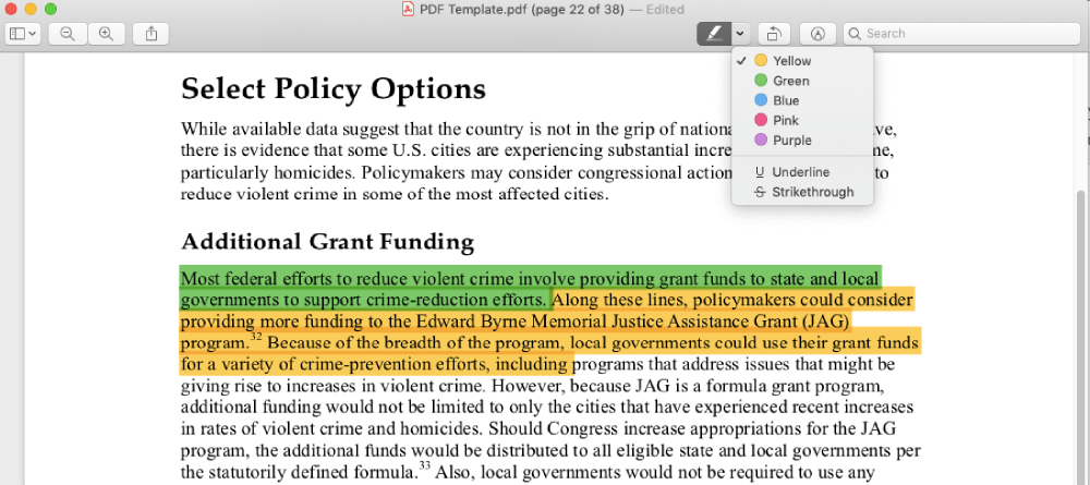 Evidenzia Mac Preview PDF da PDF a PNG