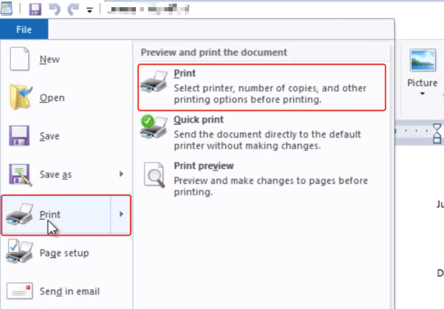 RTF to PDF Office Print