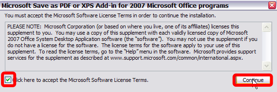 Word to PDF Office 2007 Save As