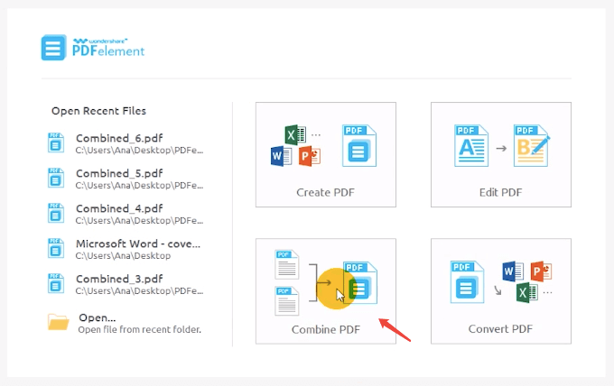 PDFelement Combine PDF