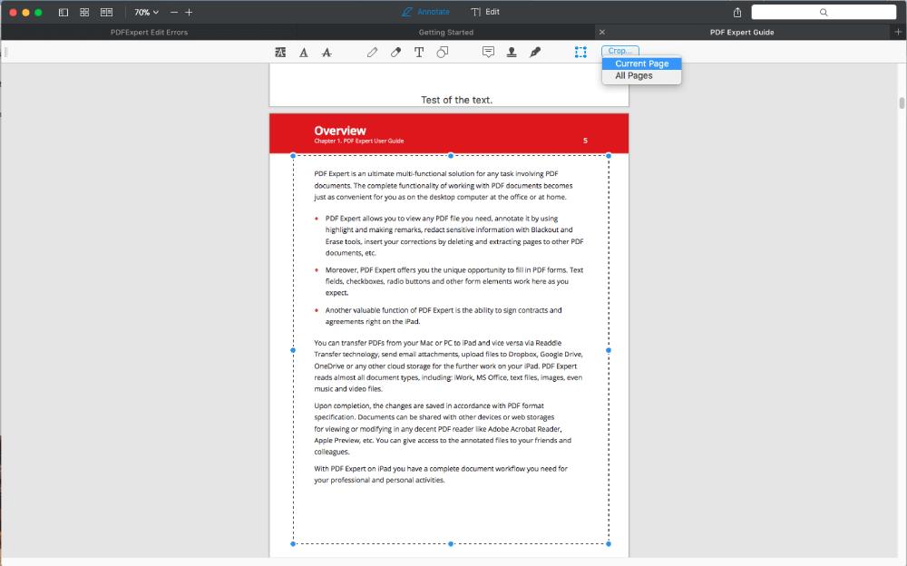 PDF Expert Crop