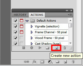 Photoshop Create New Action