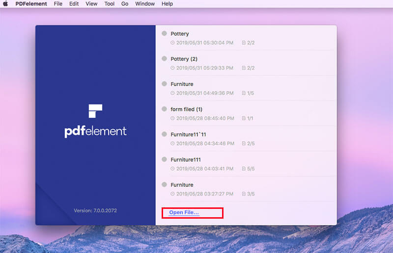 PDFelement Open File