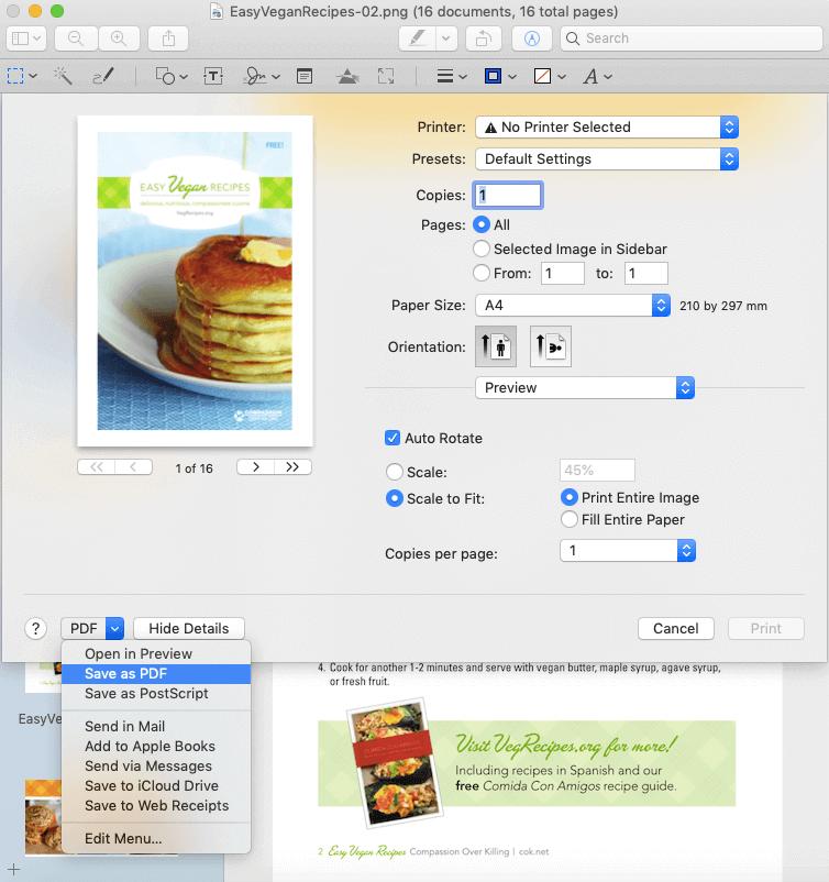 Mac Preview Guardar como PDF