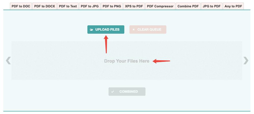 PNG2PDF Subir archivos