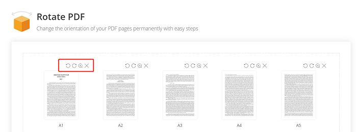 Rotate PDF Pages One By One