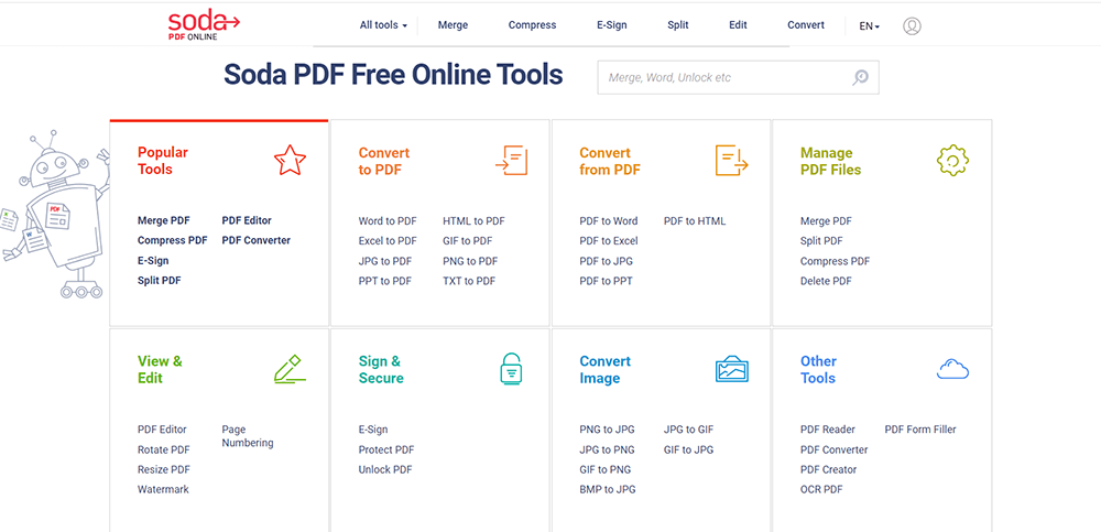 Soda PDF All PDF Tools